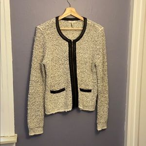 Joie Leather Trim Sweater